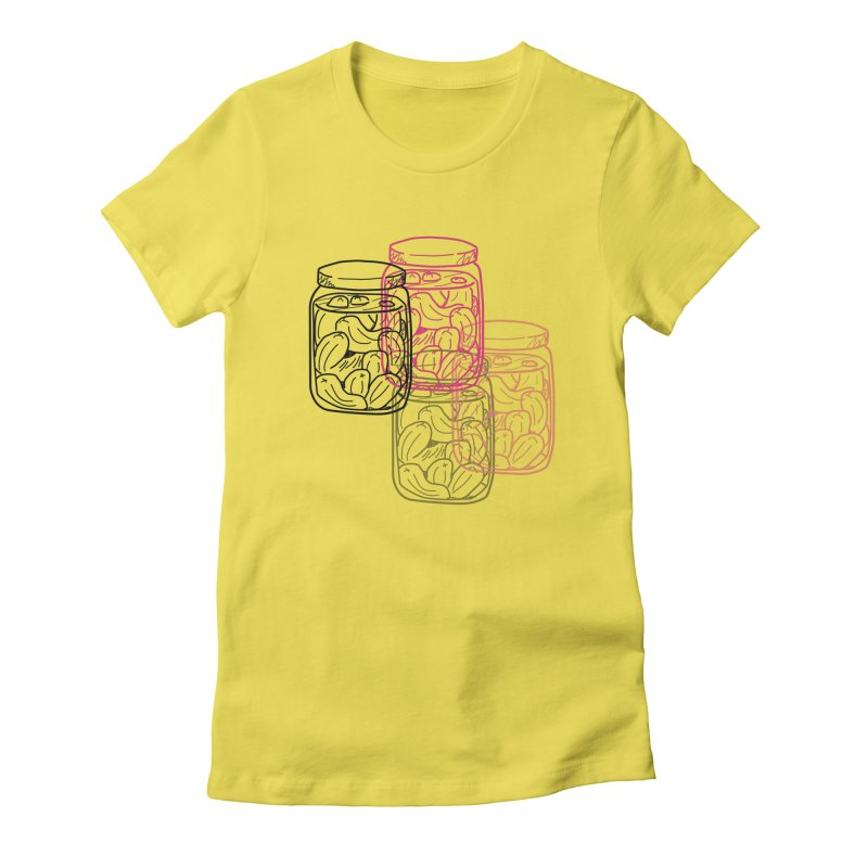 Pickle Jar frequencies Women's Fitted T-Shirt by The Pickle Jar's Artist Shop