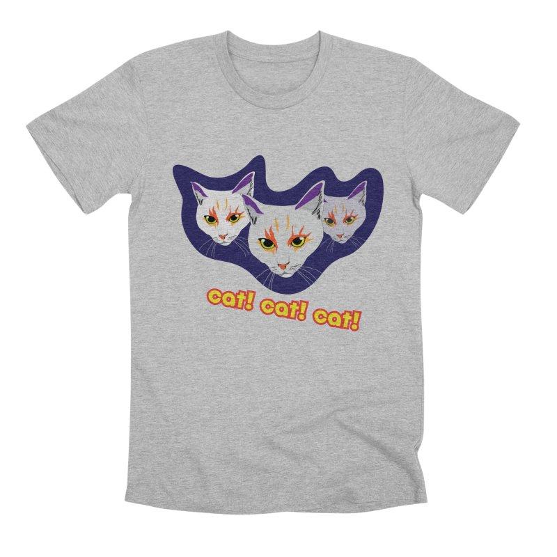 cat! cat! cat! Men's Premium T-Shirt by The Pickle Jar's Artist Shop