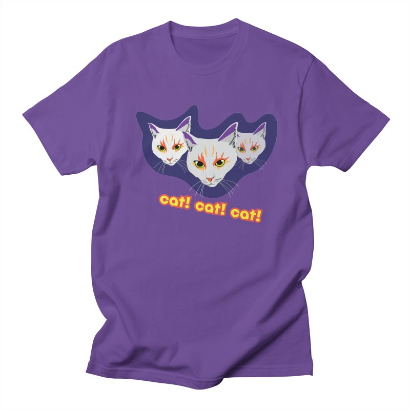 cat! cat! cat! Men's Regular T-Shirt by The Pickle Jar's Artist Shop