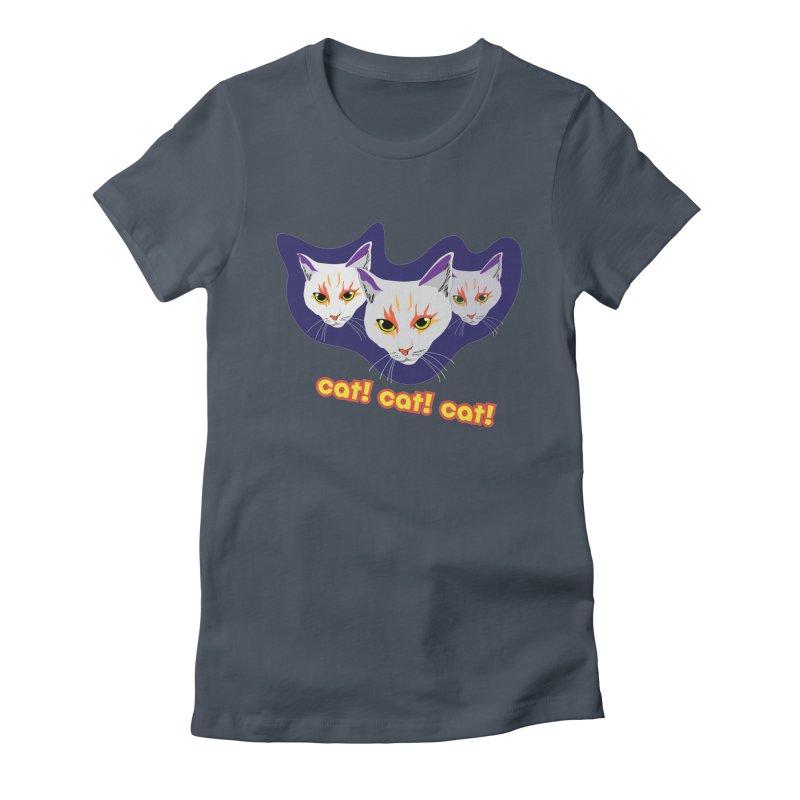 cat! cat! cat! Women's T-Shirt by The Pickle Jar's Artist Shop