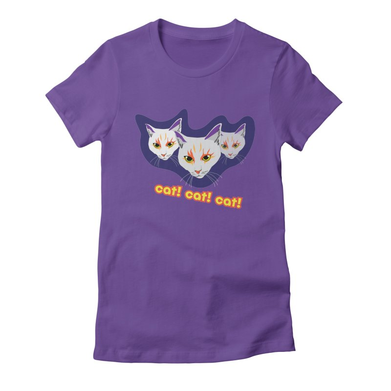 cat! cat! cat! Women's Fitted T-Shirt by The Pickle Jar's Artist Shop