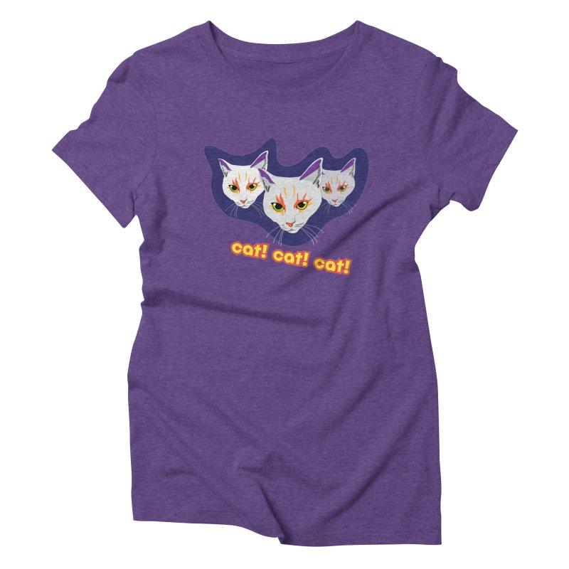 cat! cat! cat! Women's Triblend T-Shirt by The Pickle Jar's Artist Shop