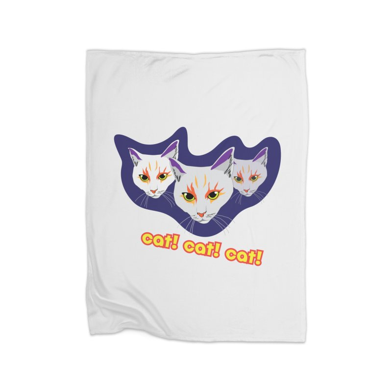 cat! cat! cat! Home Fleece Blanket Blanket by The Pickle Jar's Artist Shop