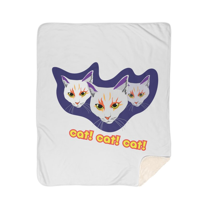cat! cat! cat! Home Sherpa Blanket Blanket by The Pickle Jar's Artist Shop