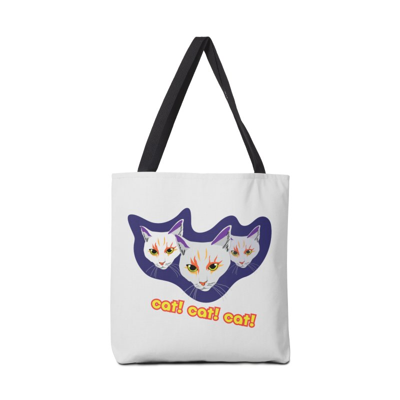 cat! cat! cat! Accessories Tote Bag Bag by The Pickle Jar's Artist Shop