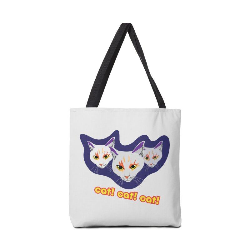 cat! cat! cat! Accessories Bag by The Pickle Jar's Artist Shop