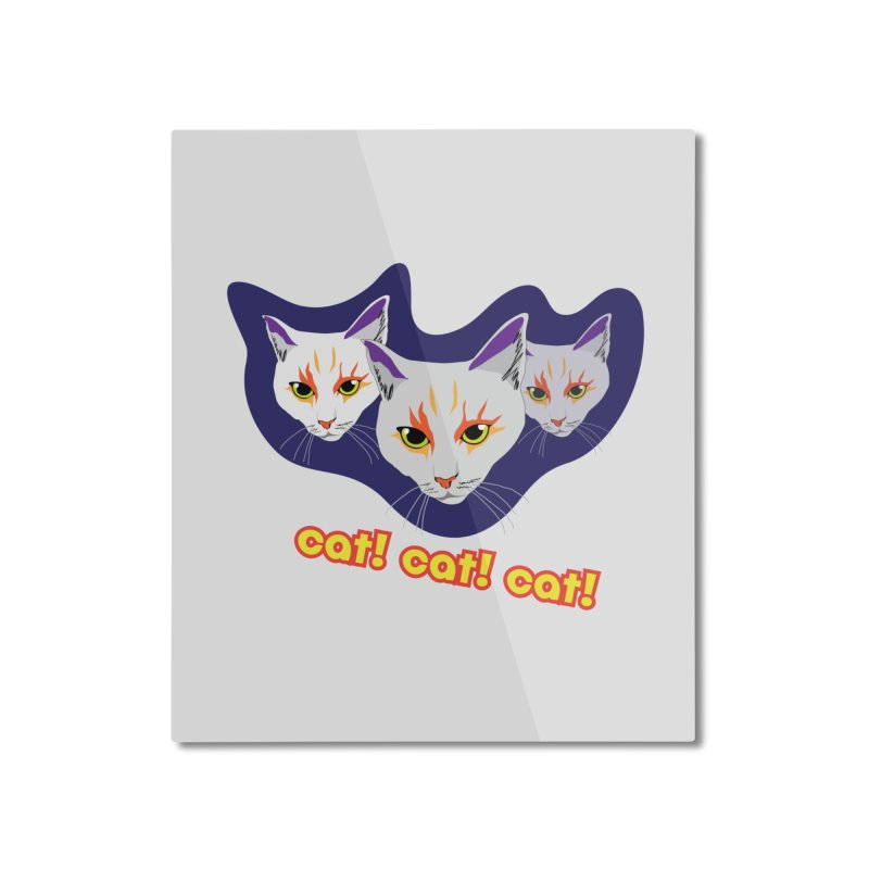 cat! cat! cat! Home Mounted Aluminum Print by The Pickle Jar's Artist Shop