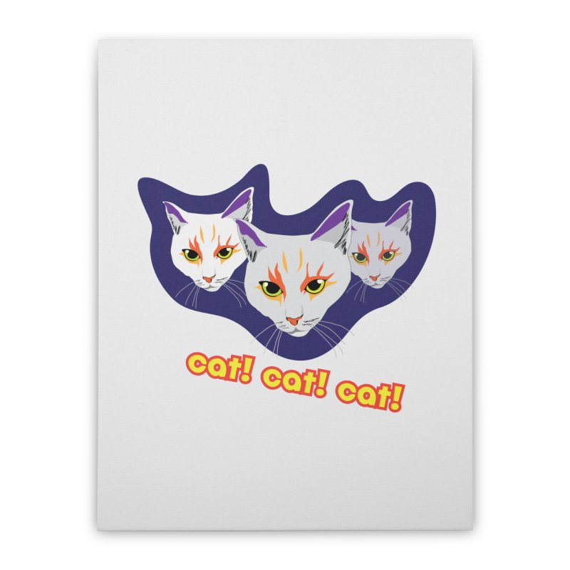 cat! cat! cat! Home Stretched Canvas by The Pickle Jar's Artist Shop