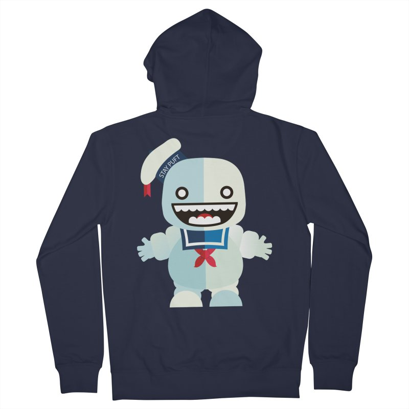 Stay Puft Man Women's French Terry Zip-Up Hoody by libedlulo