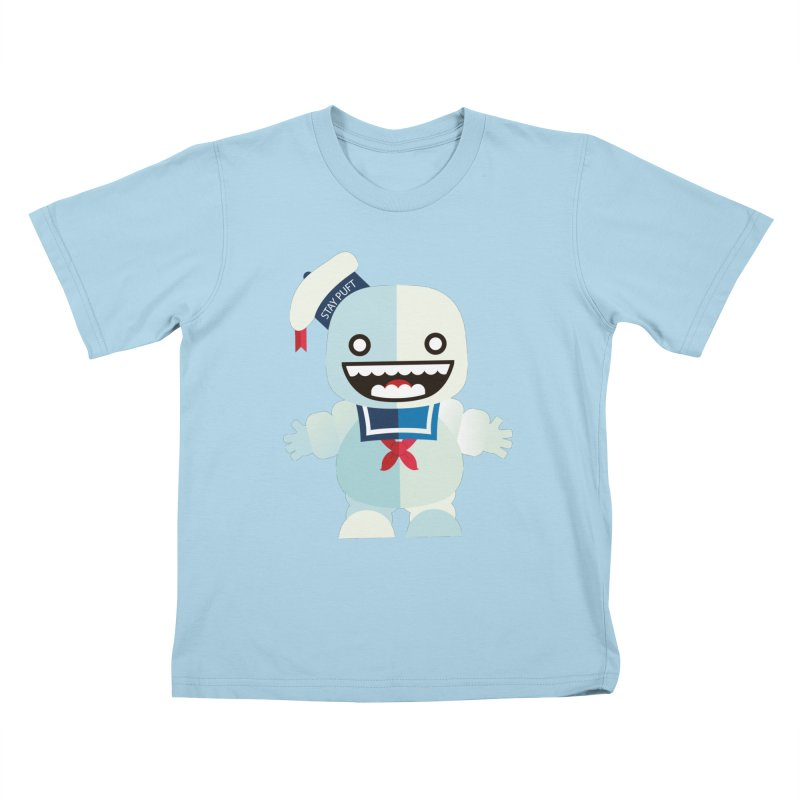 Stay Puft Man Kids T-Shirt by libedlulo