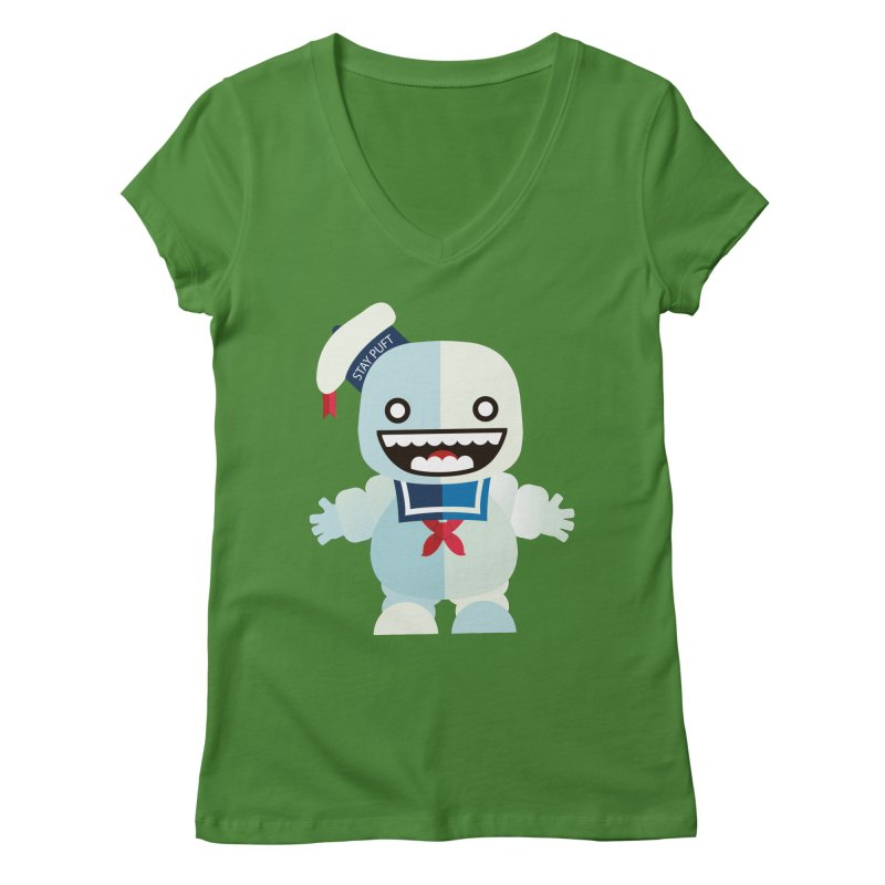 Stay Puft Man Women's Regular V-Neck by libedlulo