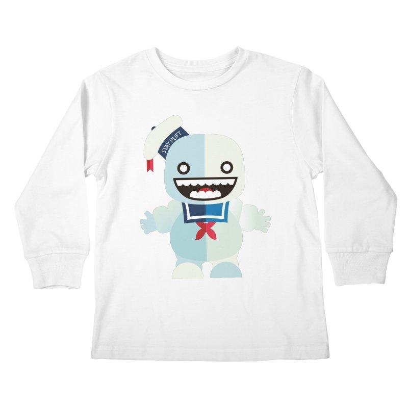 Stay Puft Man Kids Longsleeve T-Shirt by libedlulo