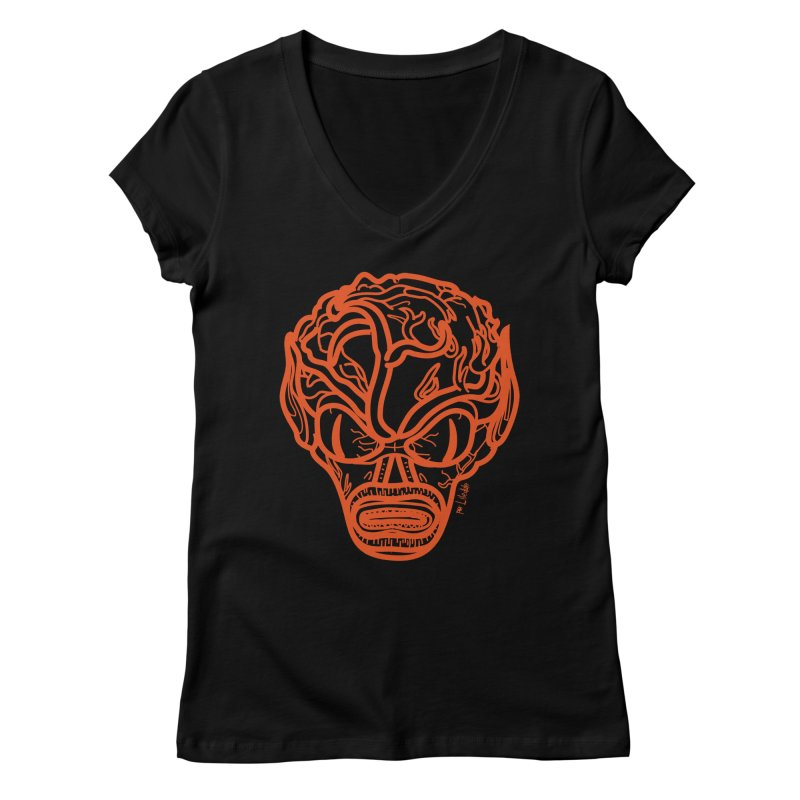 Invasion of the Saucermen Women's V-Neck by libedlulo