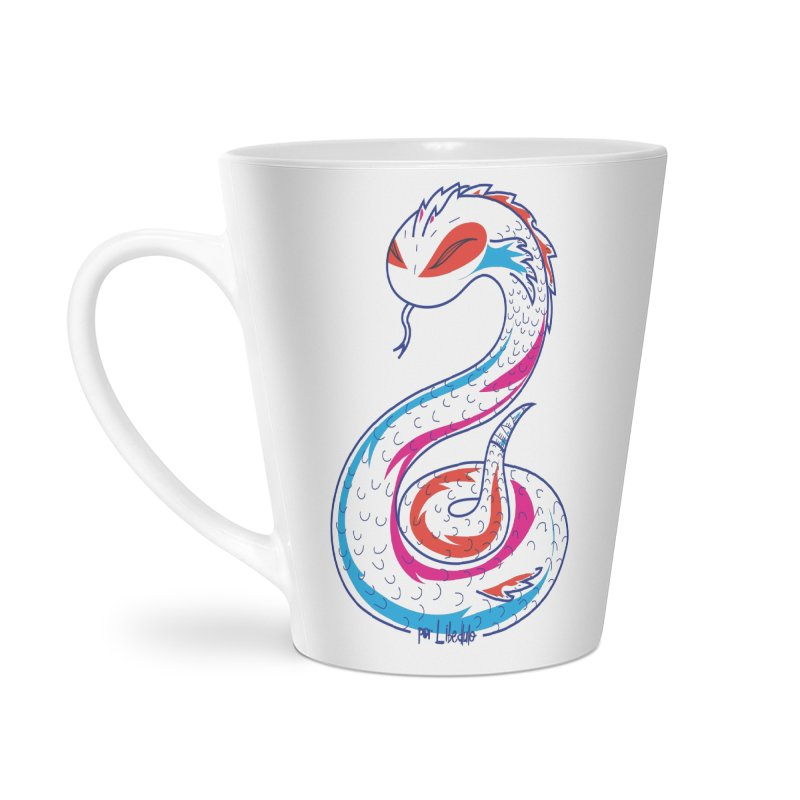 Snake Accessories Latte Mug by libedlulo