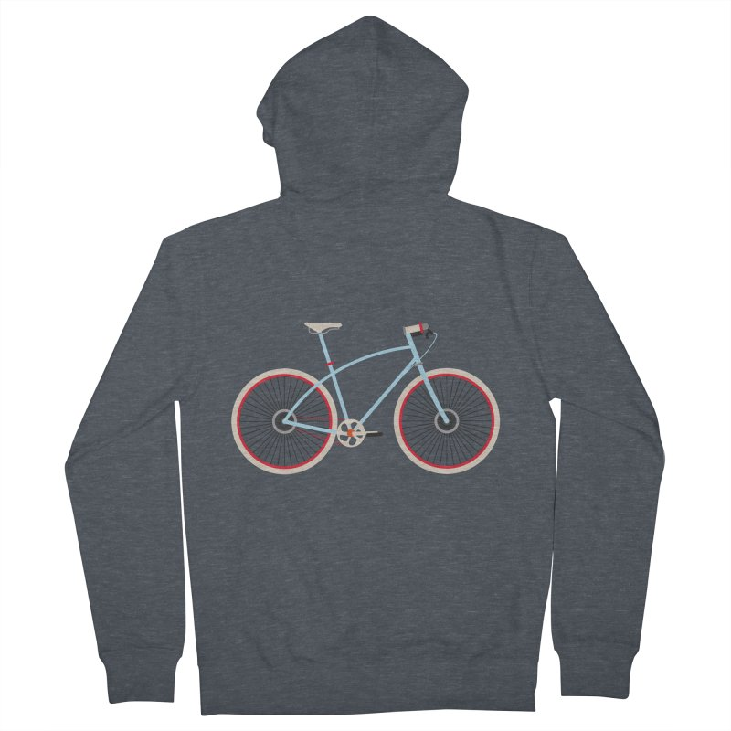 Fixie Bike Men's French Terry Zip-Up Hoody by libedlulo