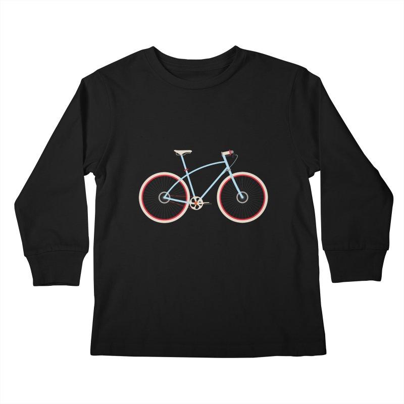 Fixie Bike Kids Longsleeve T-Shirt by libedlulo