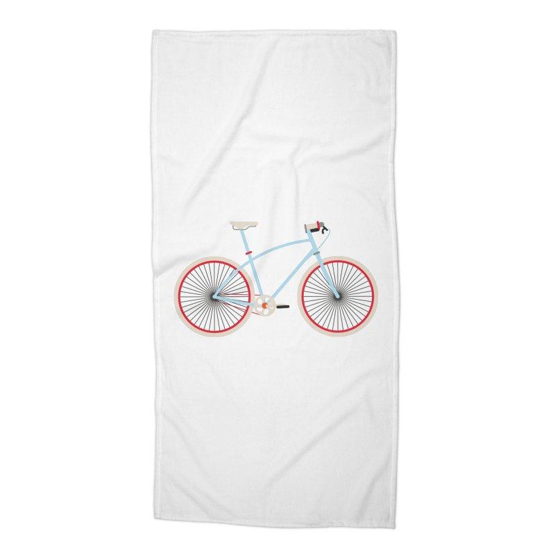 Fixie Bike Accessories Beach Towel by libedlulo