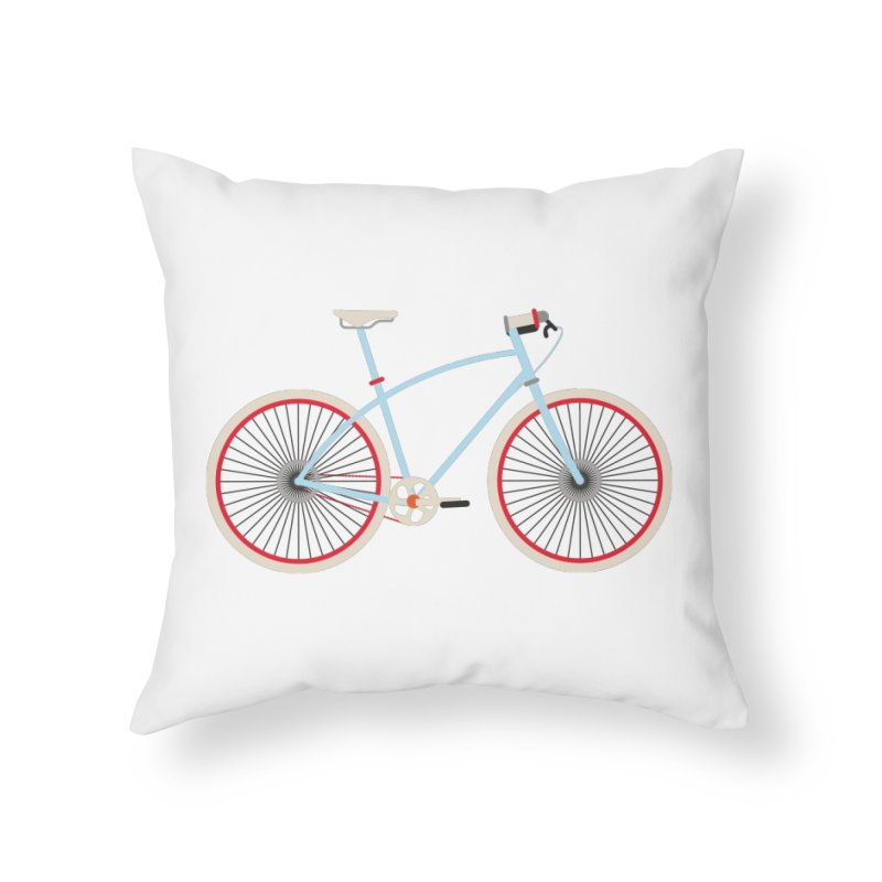 Fixie Bike Home Throw Pillow by libedlulo
