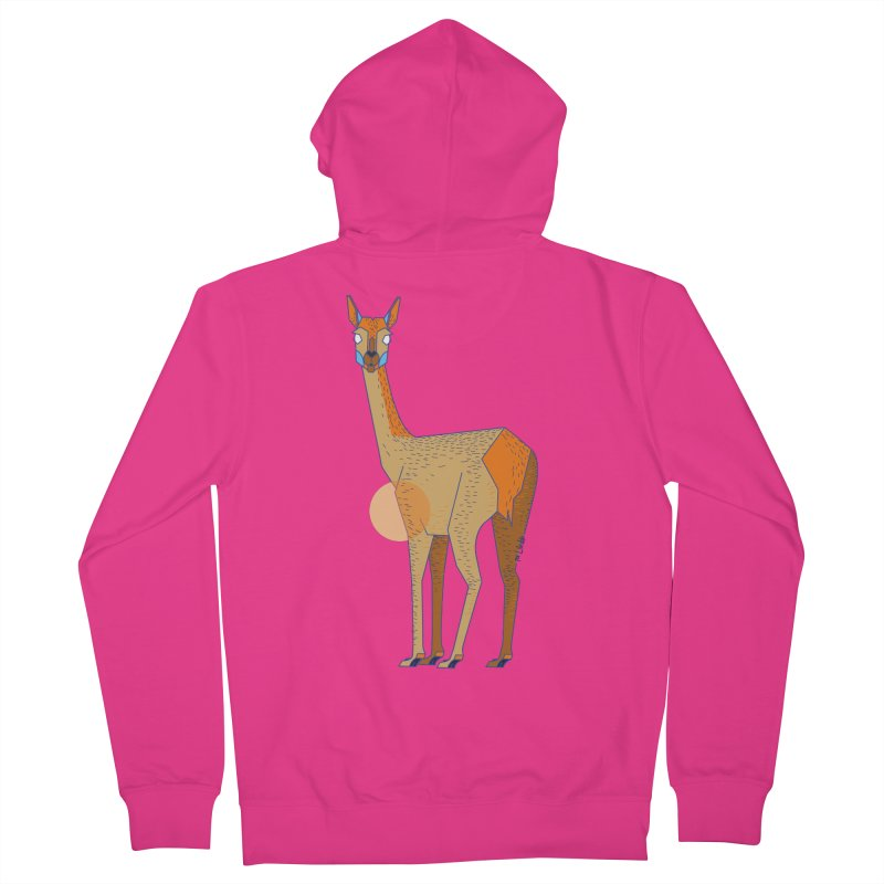 Lama from the Atacama Desert Men's French Terry Zip-Up Hoody by libedlulo