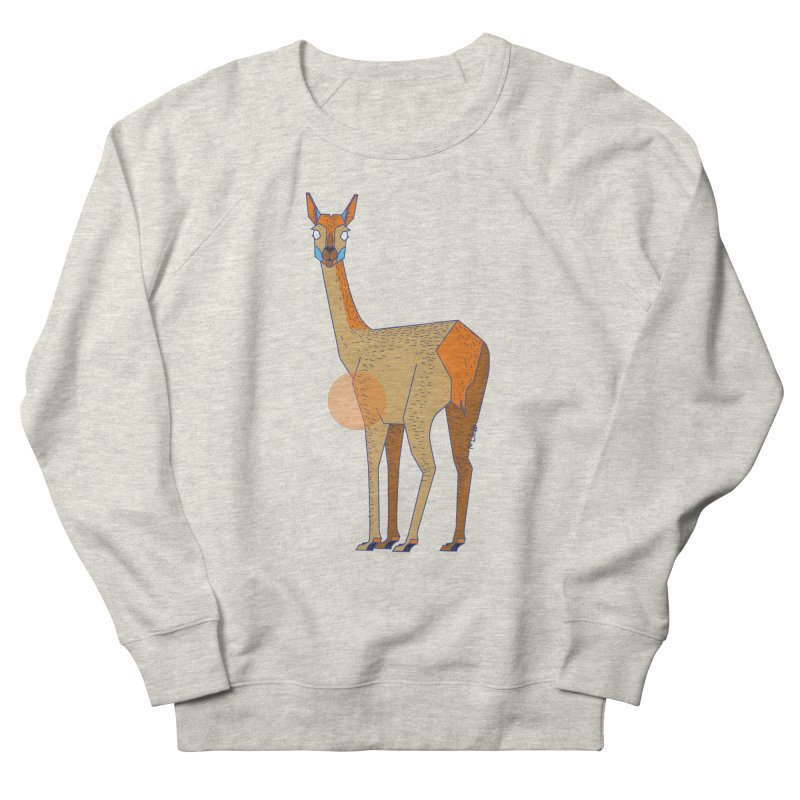 Lama from the Atacama Desert Men's French Terry Sweatshirt by libedlulo