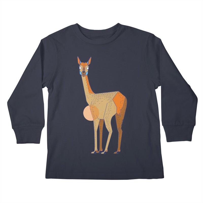 Lama from the Atacama Desert Kids Longsleeve T-Shirt by libedlulo