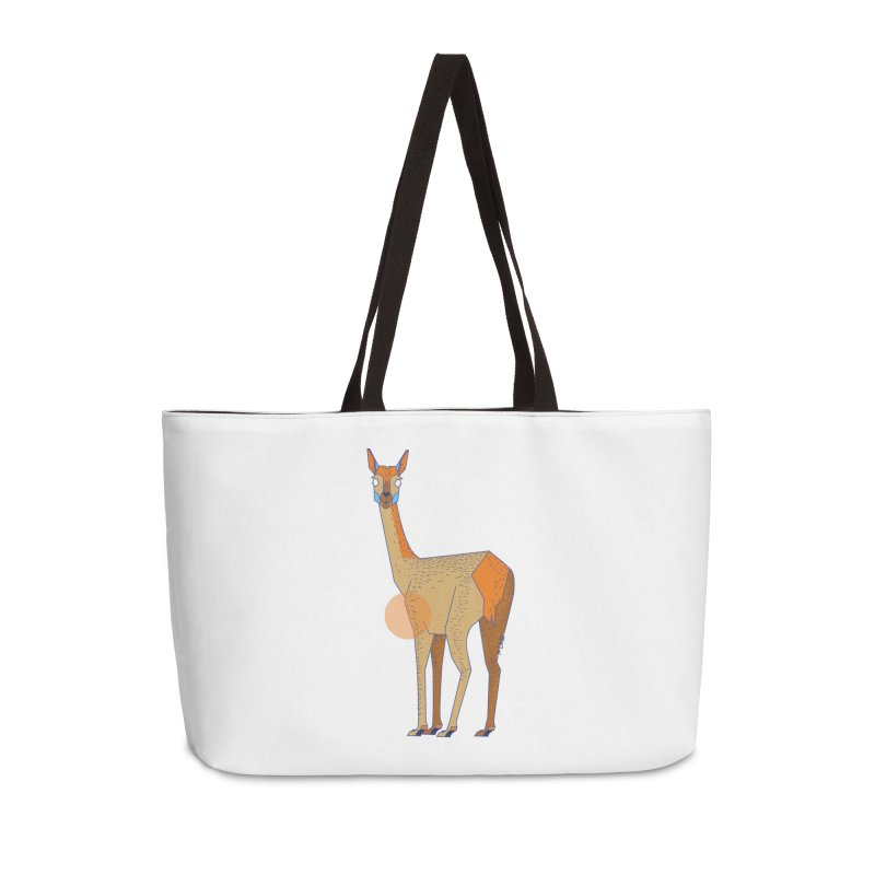 Lama from the Atacama Desert Accessories Bag by libedlulo