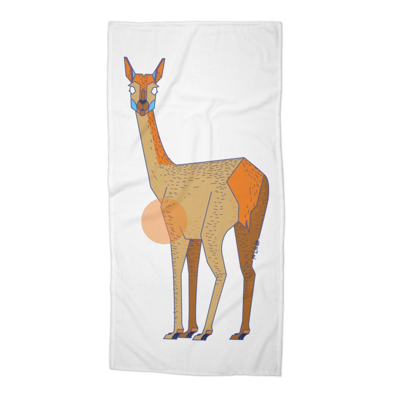 Lama from the Atacama Desert Accessories Beach Towel by libedlulo