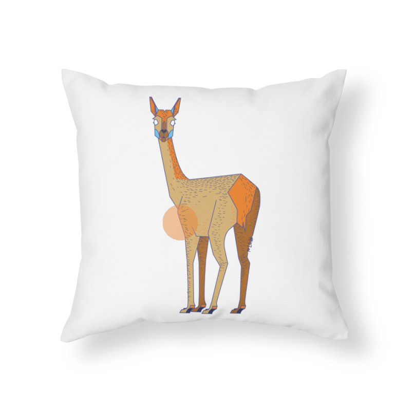Lama from the Atacama Desert Home Throw Pillow by libedlulo