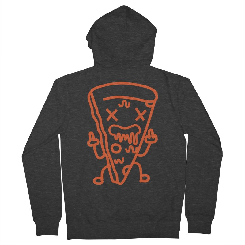 F**kn´Pizza Men's French Terry Zip-Up Hoody by libedlulo