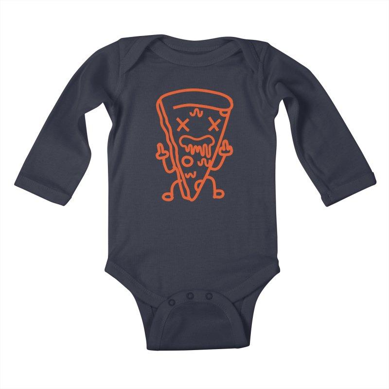 F**kn´Pizza Kids Baby Longsleeve Bodysuit by libedlulo
