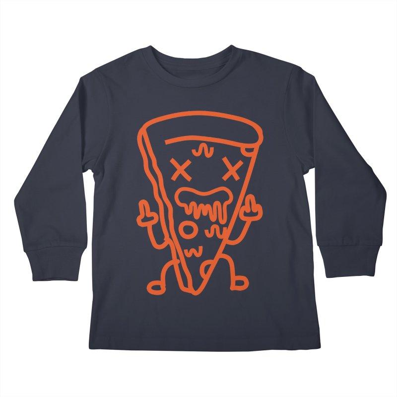 F**kn´Pizza Kids Longsleeve T-Shirt by libedlulo