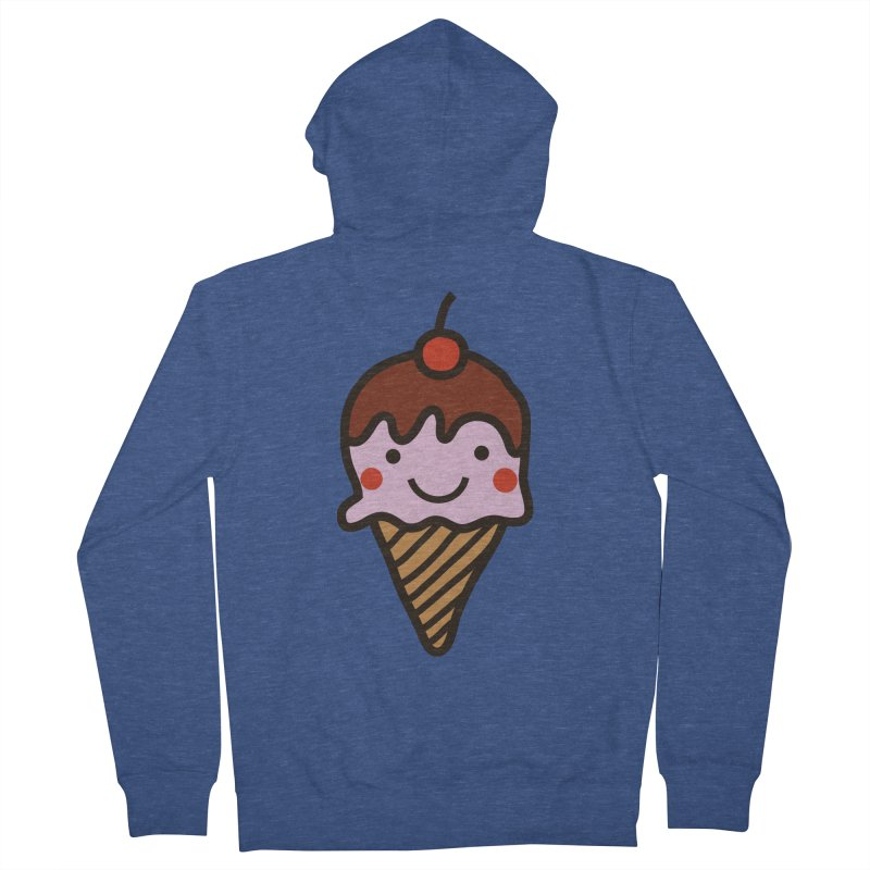 Summer Ice Cream Women's French Terry Zip-Up Hoody by libedlulo