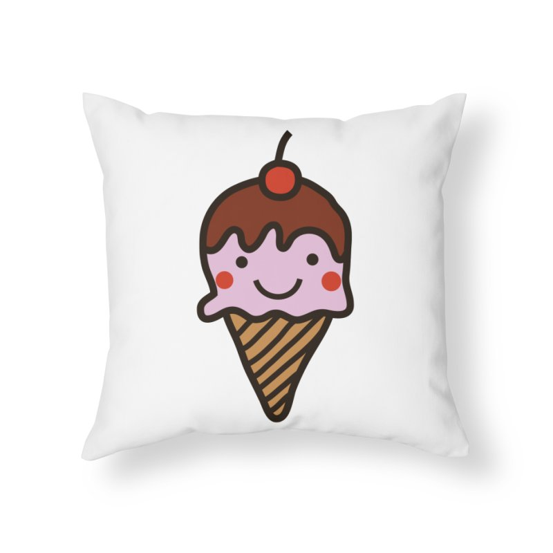 Summer Ice Cream Home Throw Pillow by libedlulo
