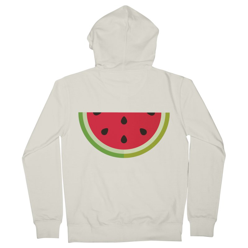 Summer Watermelon Women's French Terry Zip-Up Hoody by libedlulo