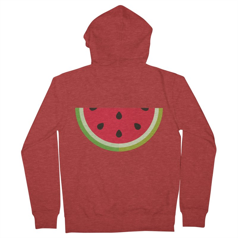 Summer Watermelon Men's French Terry Zip-Up Hoody by libedlulo