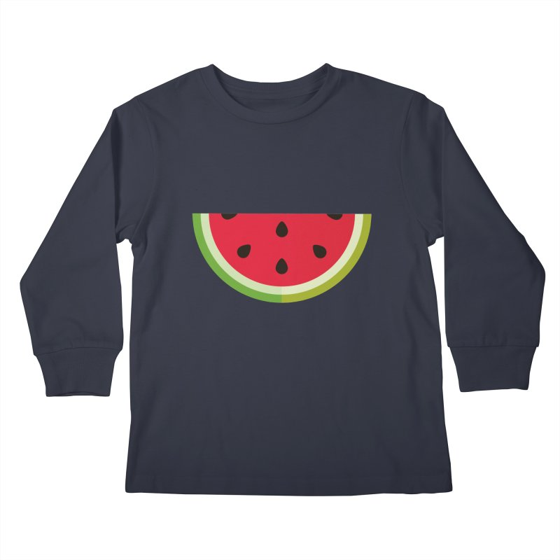 Summer Watermelon Kids Longsleeve T-Shirt by libedlulo