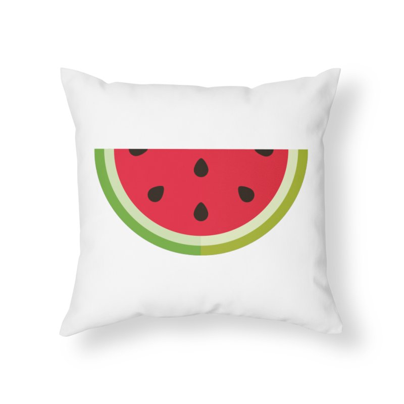 Summer Watermelon Home Throw Pillow by libedlulo