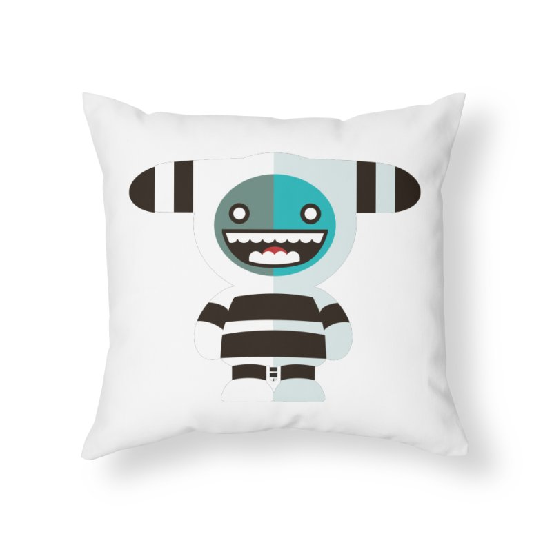 Funky Selk´nam Home Throw Pillow by libedlulo
