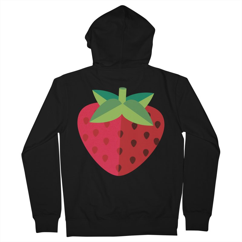 Summer Strawberry Women's French Terry Zip-Up Hoody by libedlulo
