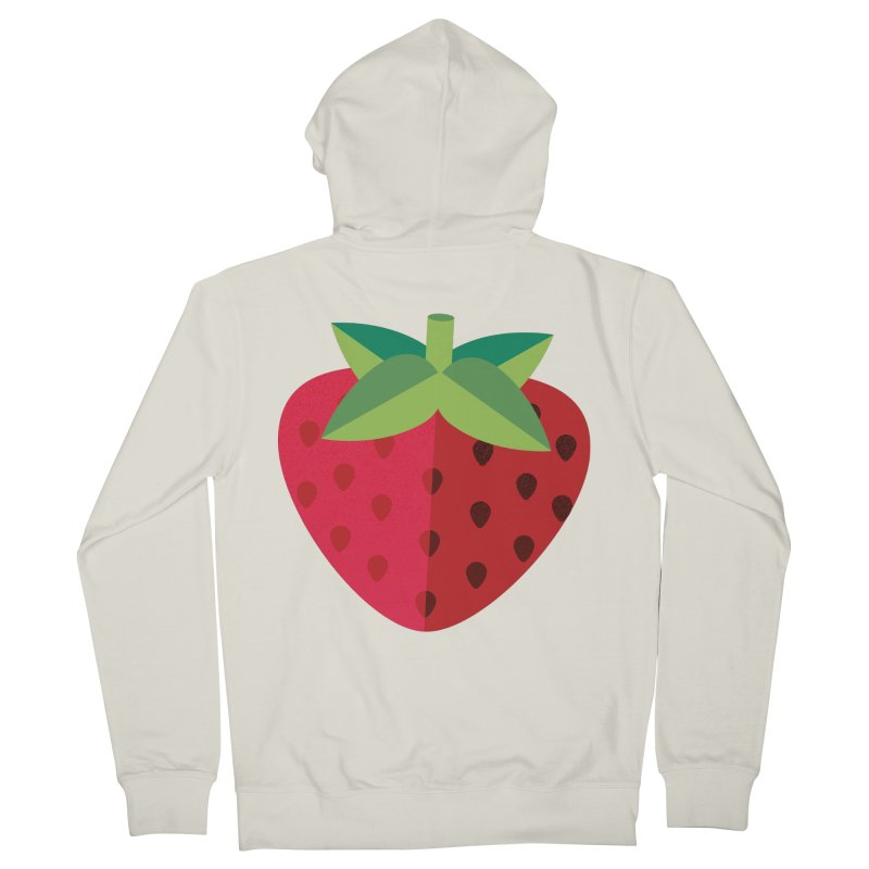 Summer Strawberry Men's French Terry Zip-Up Hoody by libedlulo