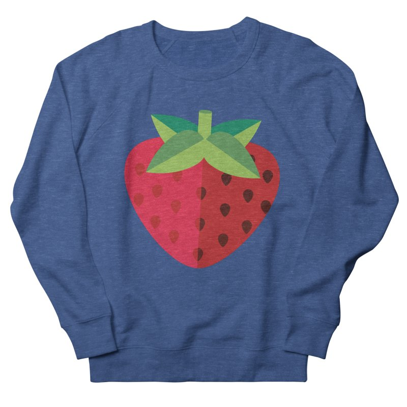 Summer Strawberry Men's French Terry Sweatshirt by libedlulo
