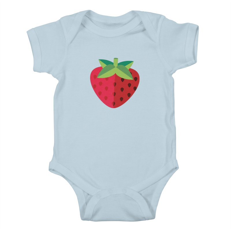 Summer Strawberry Kids Baby Bodysuit by libedlulo