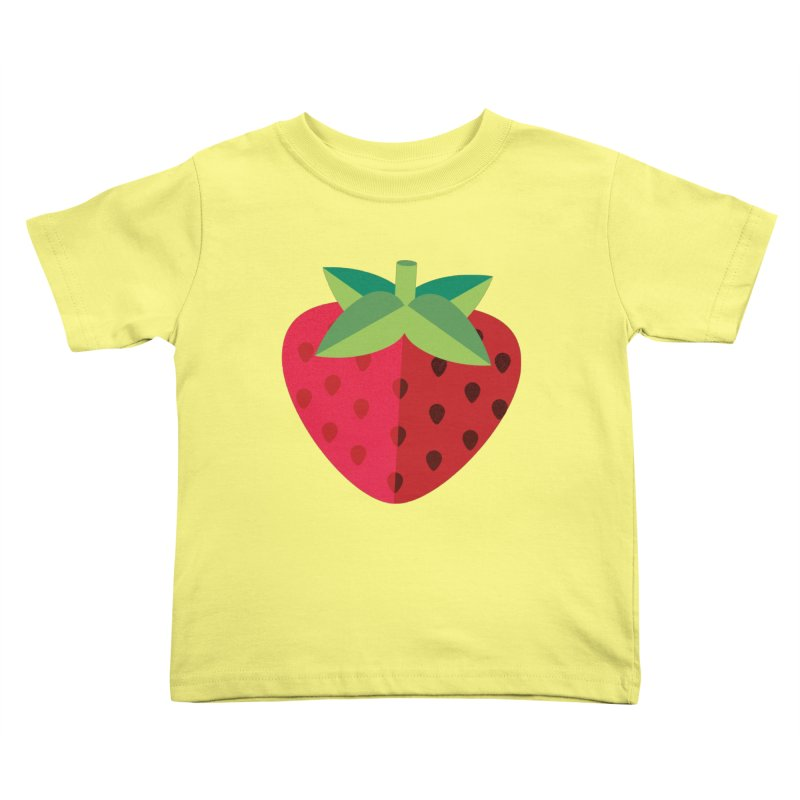 Summer Strawberry Kids Toddler T-Shirt by libedlulo