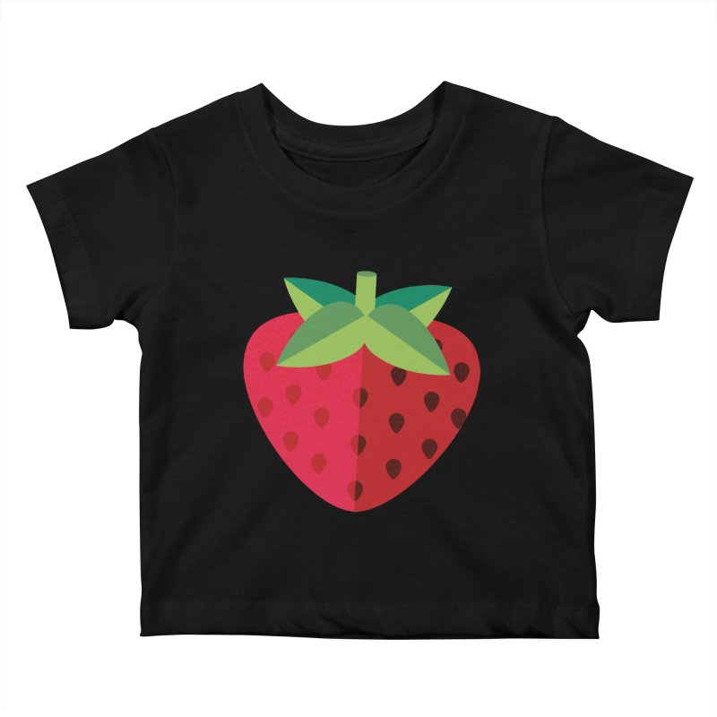 Summer Strawberry Kids Baby T-Shirt by libedlulo