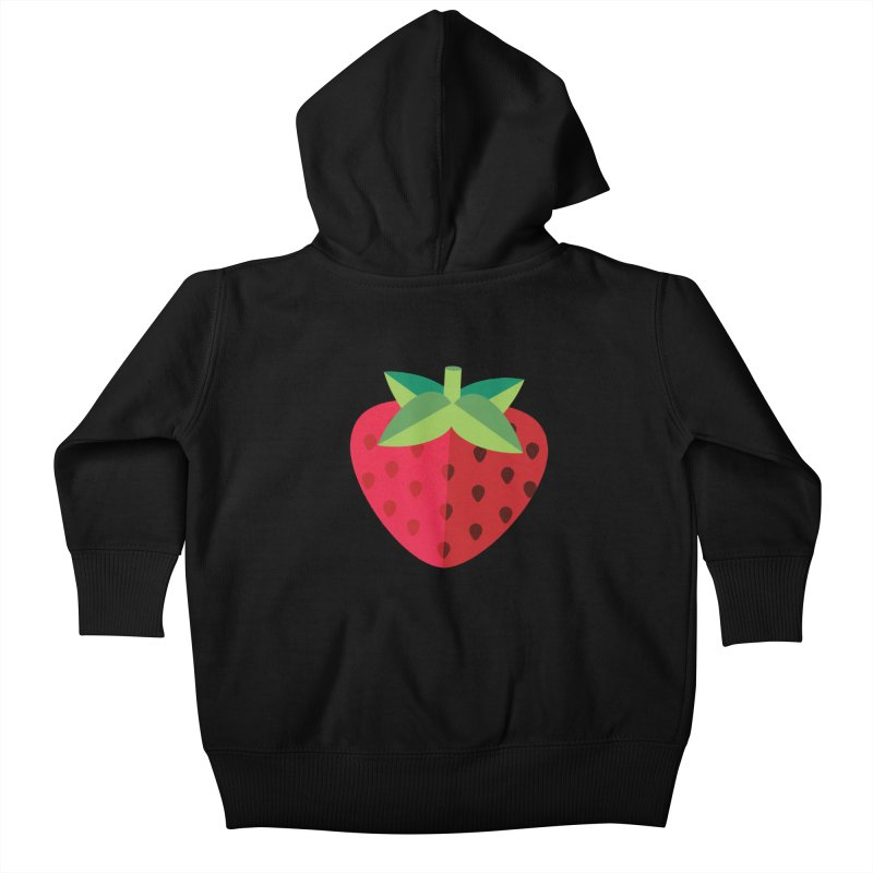 Summer Strawberry Kids Baby Zip-Up Hoody by libedlulo