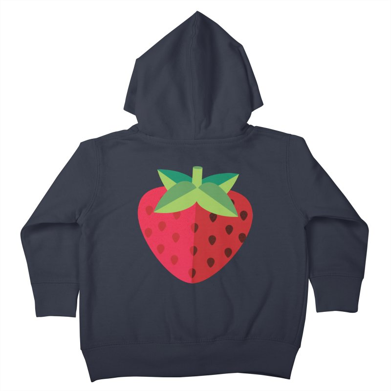 Summer Strawberry Kids Toddler Zip-Up Hoody by libedlulo