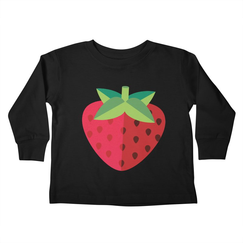 Summer Strawberry Kids Toddler Longsleeve T-Shirt by libedlulo