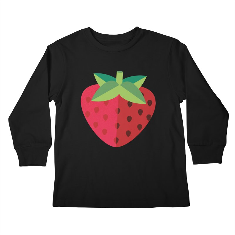Summer Strawberry Kids Longsleeve T-Shirt by libedlulo
