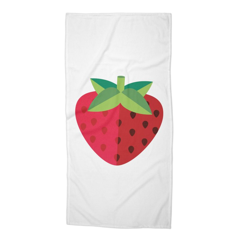 Summer Strawberry Accessories Beach Towel by libedlulo