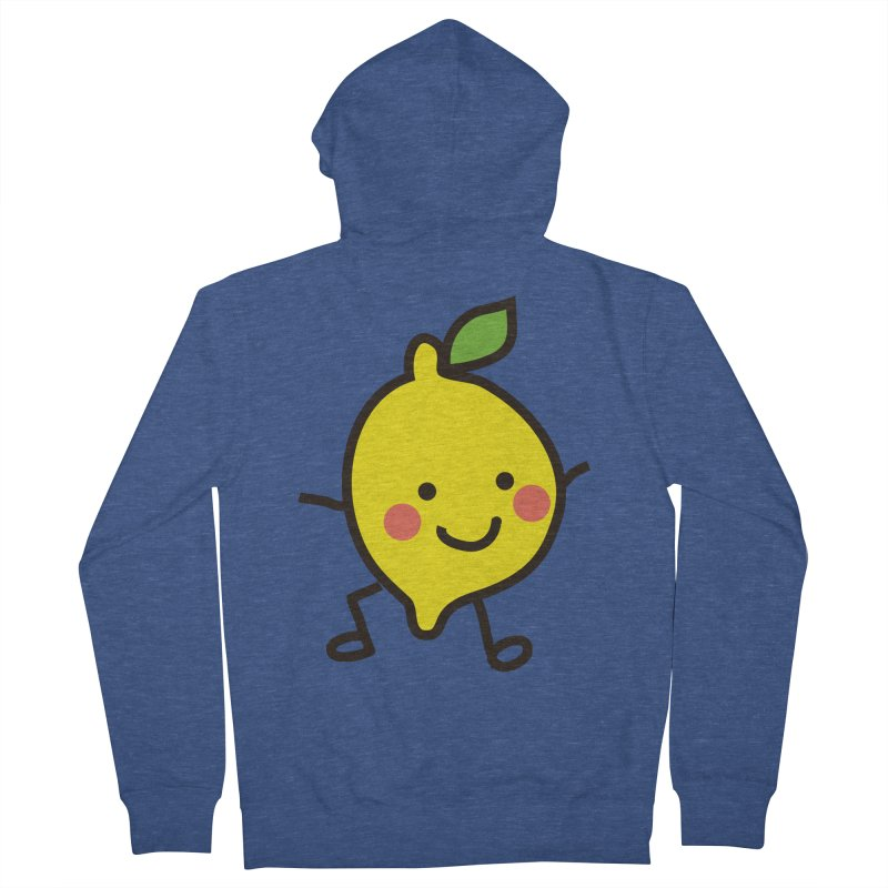 Summer Lemon Women's French Terry Zip-Up Hoody by libedlulo